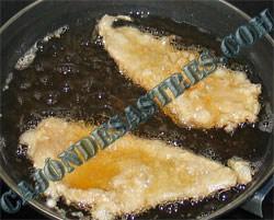 Pesacdo rebozado en salsa