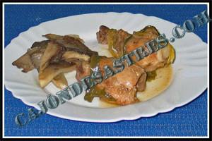 receta de pollo con setas