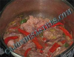 cordero en salsa receta
