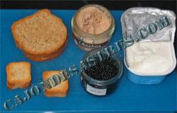 tostas de pate de anchoa y queso