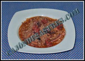 receta de arroz con pulpo y calamares