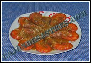receta de gambones en salsa de cava