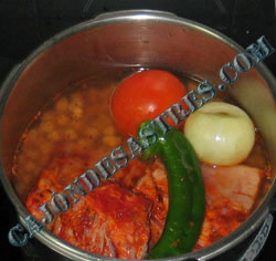 receta garbanzos con costilla iberica