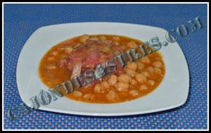 receta de garbanzos con costilla iberica adobada