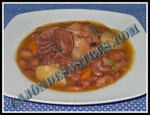 receta de alubias con codillo de cerdo