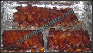 costilla asada en salsa barbacoa