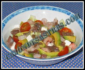 ensalada de aguacate y anchoas