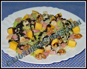 Receta de Ensalada de mango y nueces