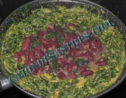 receta de alubias con espinacas cremosas