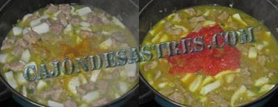 arroz con magro y calamares
