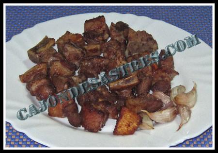 Receta de cochifrito, cochinillo ibérico frito