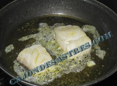 judias verdes con lomos de bacalao