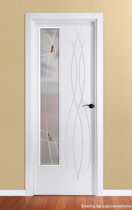 Puerta lacada en blanco Fantastic 02  Cajonerasfamaes