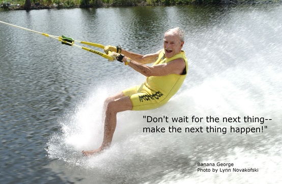 Inspiration and a great quote from Banana George. He took up barefooting at the age of 46 and didn't stop until he was 93. I'm 10 years behind.