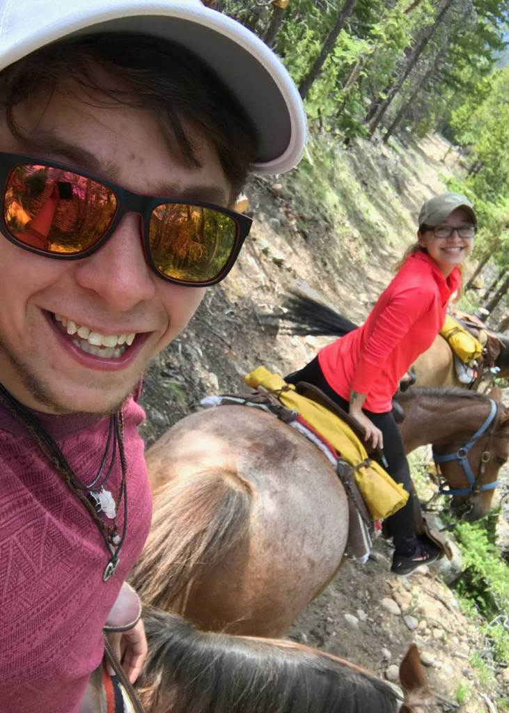 Big smiles and four hours of horseback riding in the Rocky Mountain National Park. A great way to spend the afternoon; good friends, good company and great scenery.