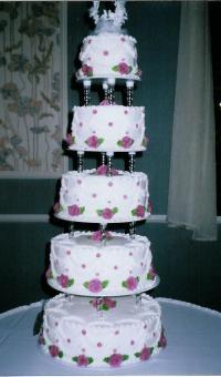 Wedding Cake - Plates & Pillars? - CakeCentral.com