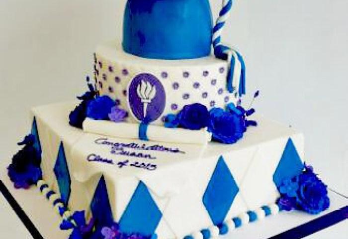 Blue Cap 2 Tier Graduation Cake Best Graduation Cakes Ideas