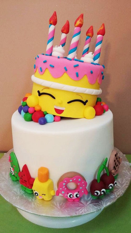 Shopkins Girls Birthday Cake Girl Birthday Cake Ideas