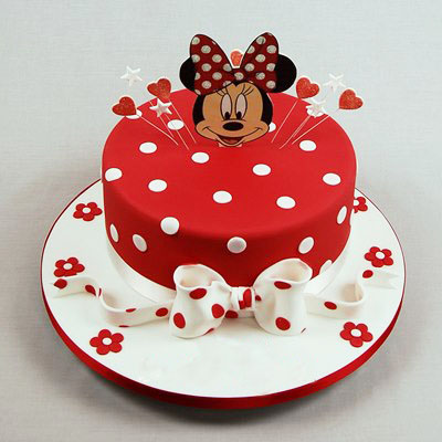Red Minnie Mouse Kids Birthday Cake Happy Birthday Cakes In Lahore