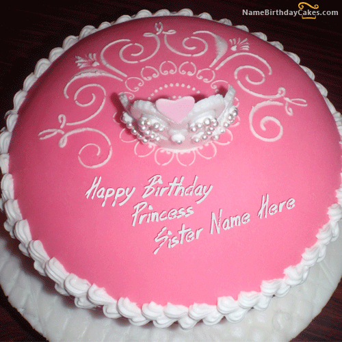Birthday Chocolate Cake For Sister With Name Edit Floweryred2com