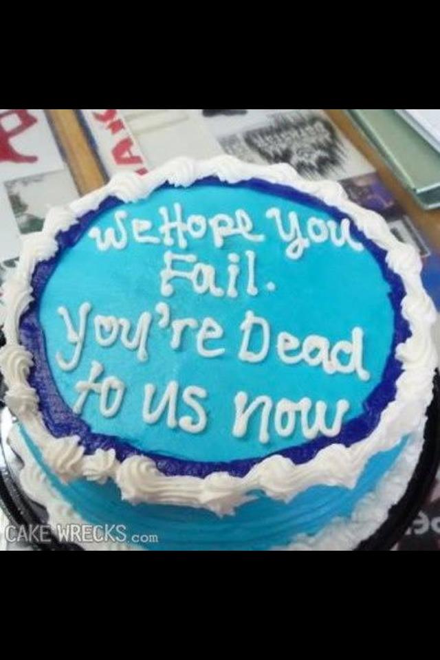 Sarcastic Birthday Cakes