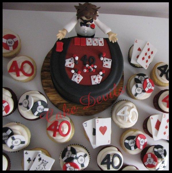 40th Birthday Casino Cake