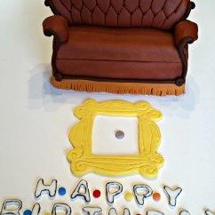 Friends Sofa Replica Vine Sleeper Couch Cake Topper Kit Fondant Handmade Edible