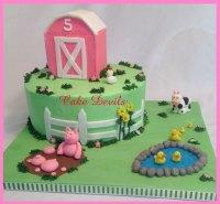 Farm Animals Fondant Cake Topper Kit, Farm Cake ...