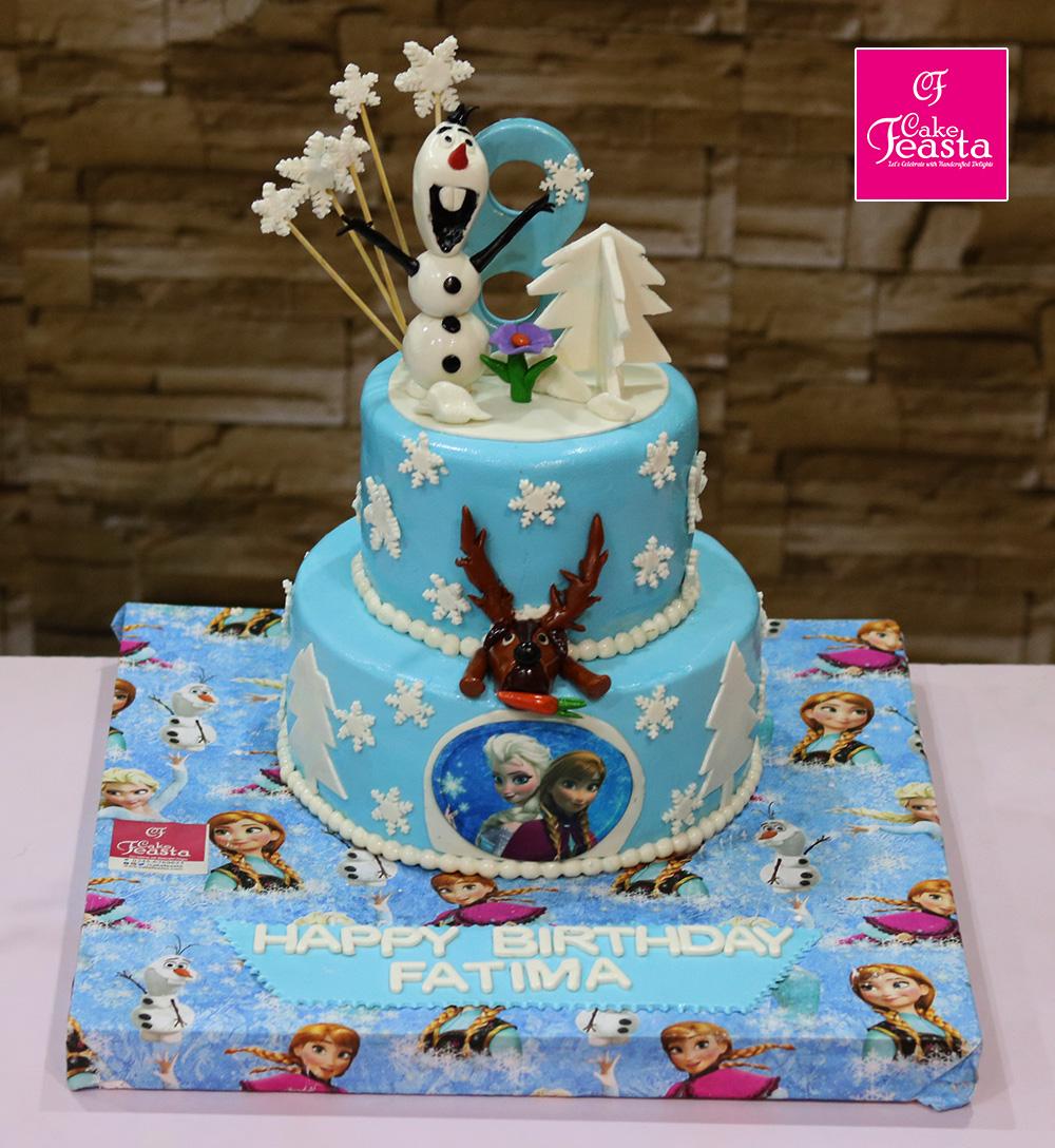 Frozen Elsa Girls Birthday Cake Customized Cakes In Lahore