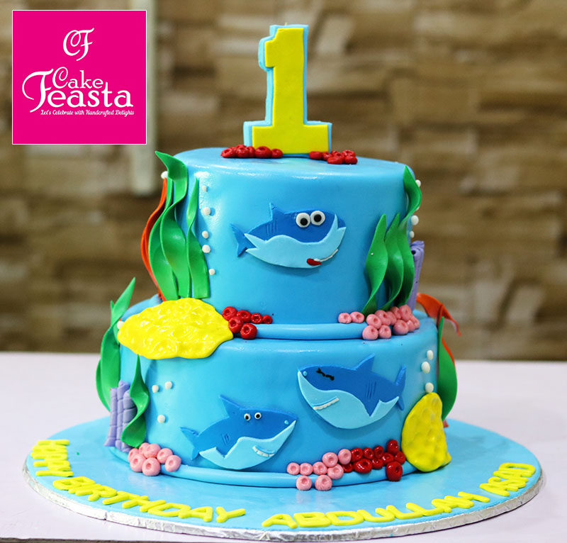 Shark Fish Birthday Cake Online Cake Shop Cake Feasta