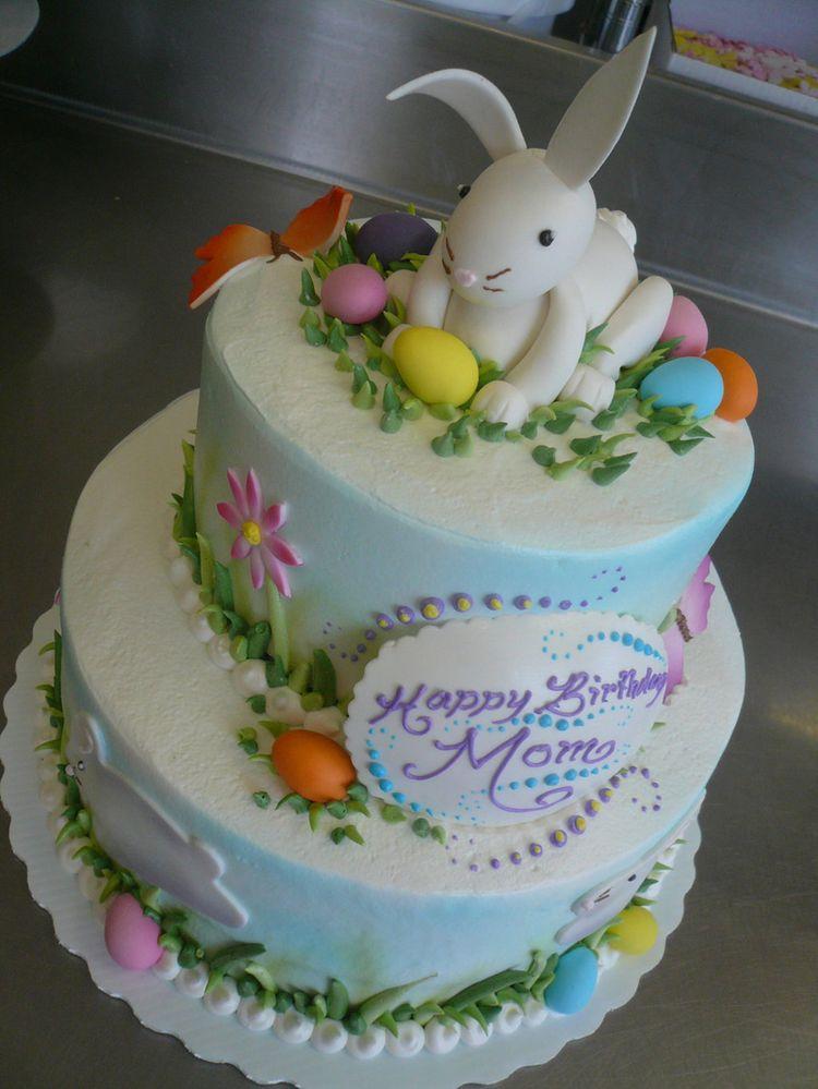 Cute Bakery Wallpaper 2 Tier Easter Bunny Cake