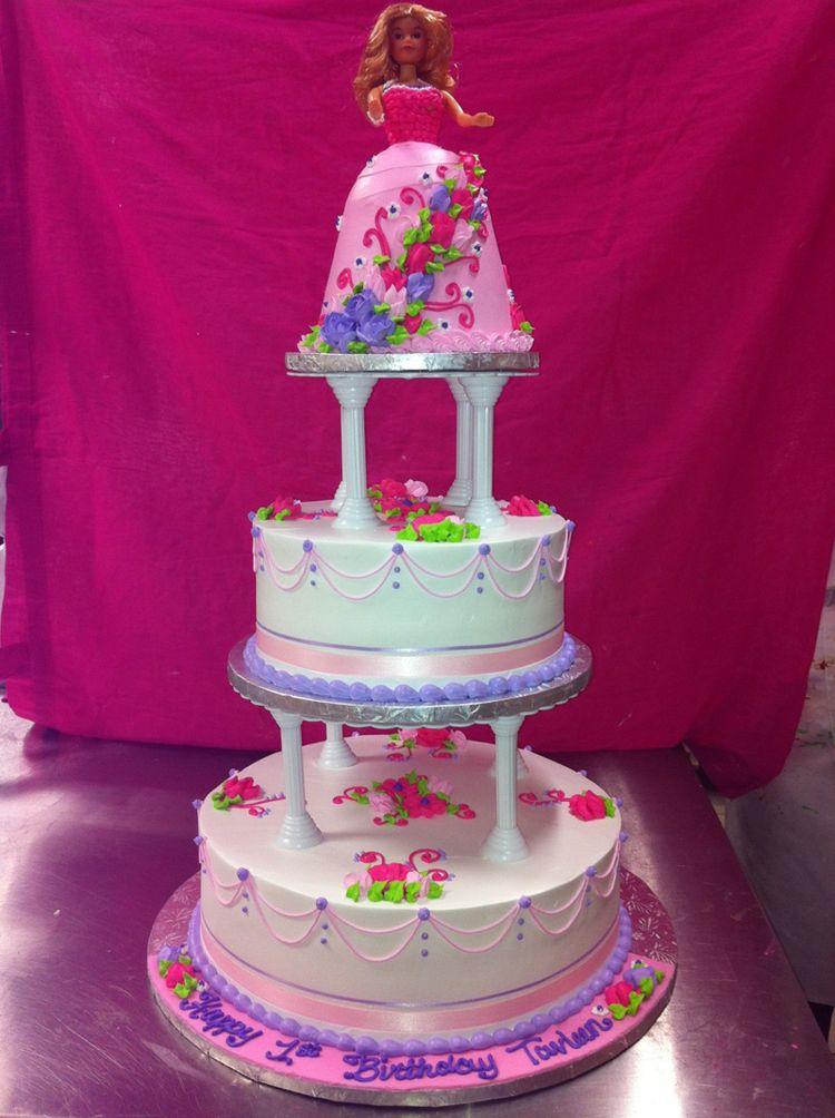 3 tier Barbie cake