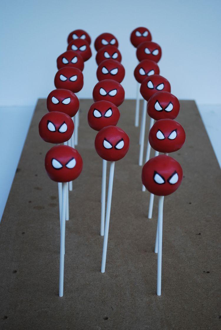 Spider man cake pops