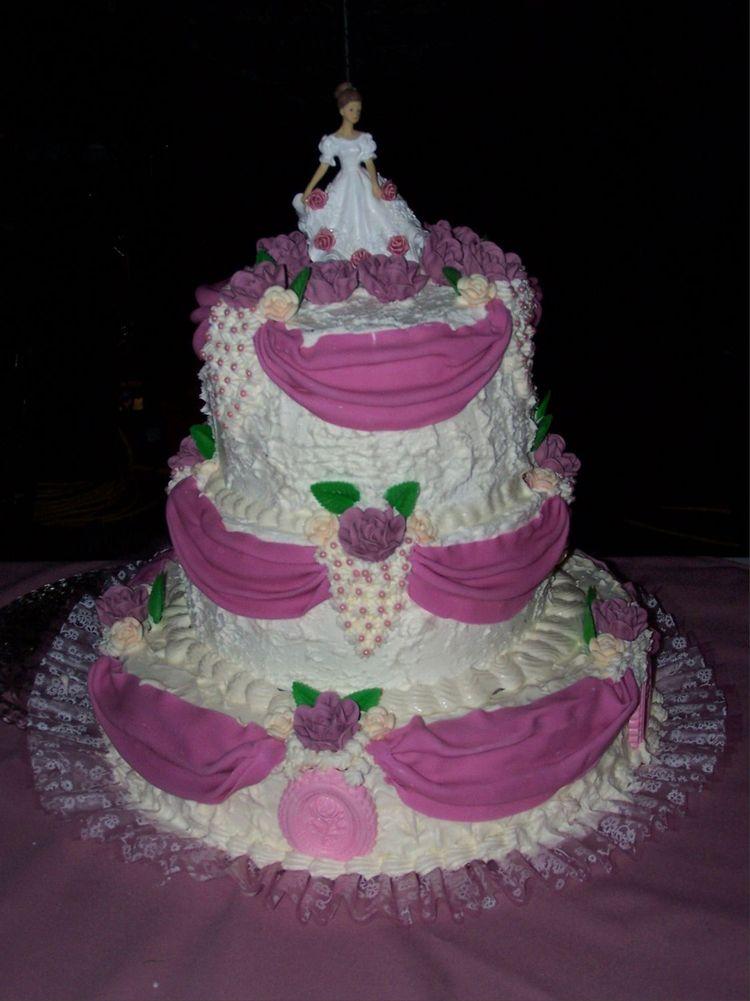 Pink Quinceanera Cake