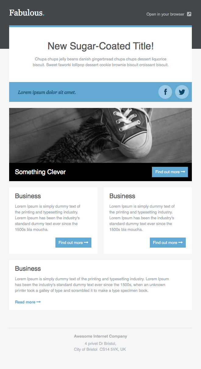 newsletter templates free email