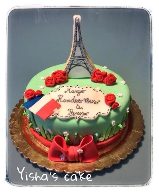 Torta Parigi  torte di cake design con la Torre Eiffel