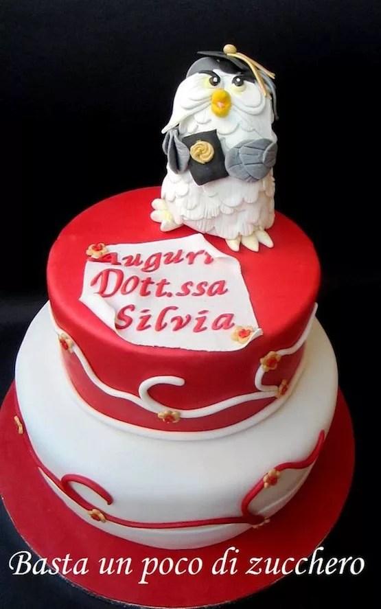 Torte con i gufi teneri dolci di cake design anche per la laurea