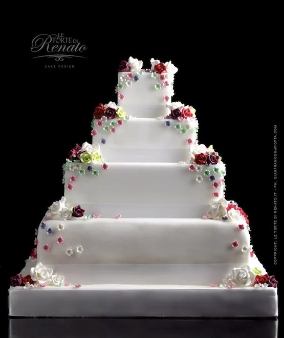 Le 10 wedding cake bianche pi belle  Cakemania dolci e