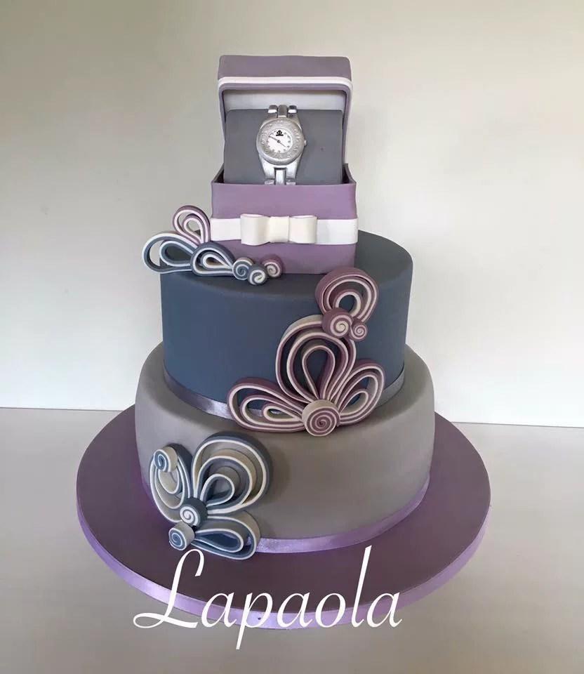 Torta orologio Rolex torte decorate a forma di orologio