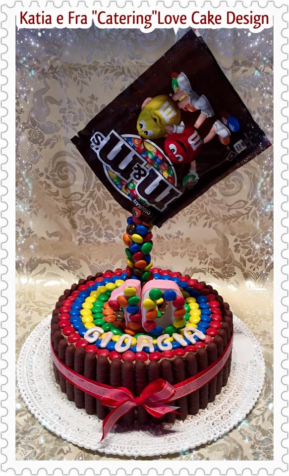 Torte decorate con Smarties e MMs cake design facile
