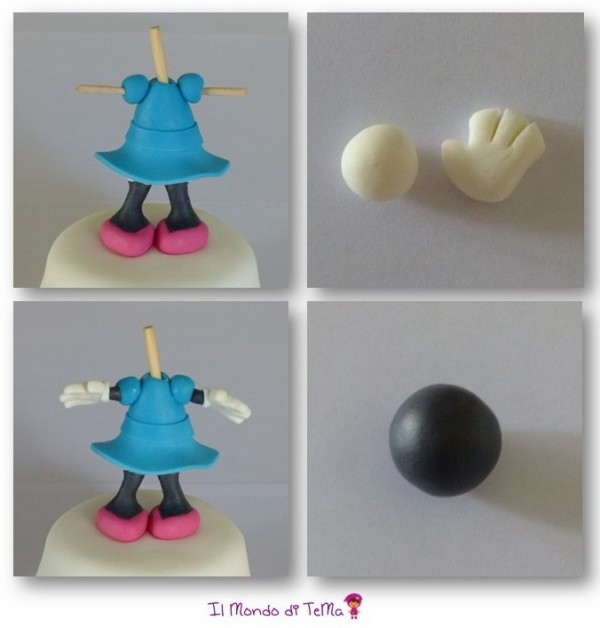 Tutorial di cake design come si fa Minnie in pasta di