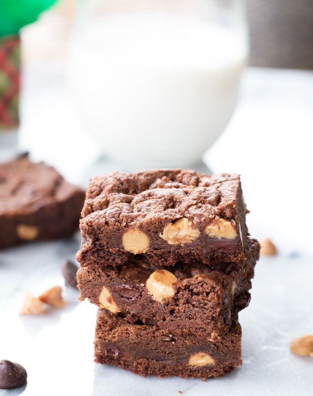 Chewy Double Chocolate Peanut Butter Cookie Bars The