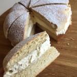 Semlor Cake - Swedish Cardamom Almond Cream Buns
