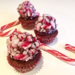 Candy Cane Truffle Cupcakes