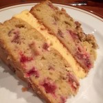 Rhubarb Crumble Cake with Custard Buttercream