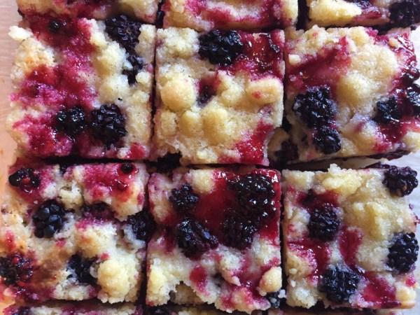 Blackberry Streusel Bars
