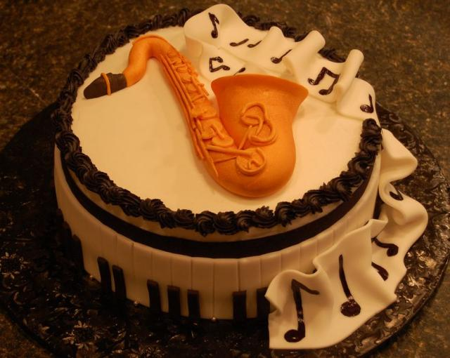 Jazz Music Birthday Cake JPG 1 Comment Hi Res 720p HD