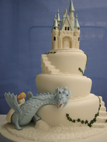 castle with dragon wedding cake 4 comments