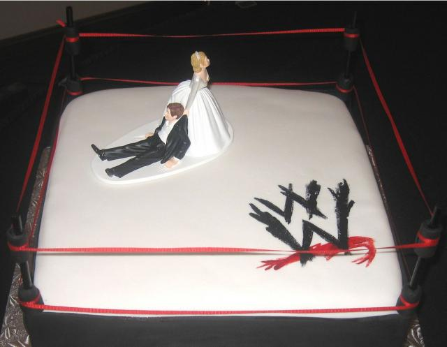 WWE Wrestling Ring Groom's Cake JPG 5 Comments Hi Res