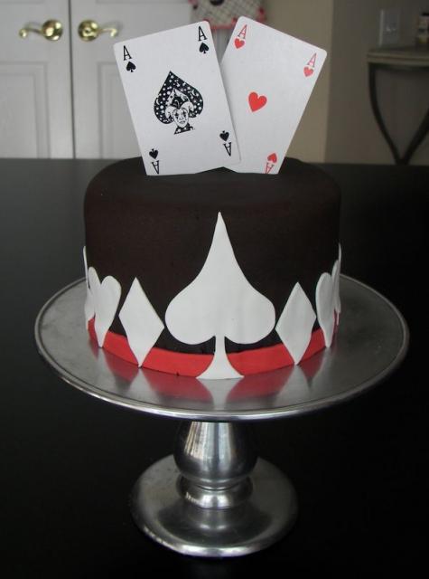 Poker Cards Ace Cake JPG